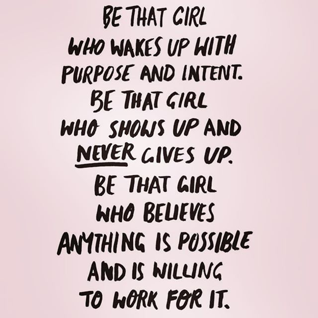 Work for it. . . . #workforit #bethegirl #girlpower #dontgiveup #regrann: @thelawofattraction11