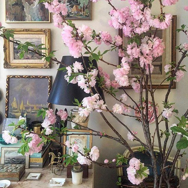 When it's spring inside... . . . . #regrann: @habituallychic #flowers #chic #style #styleblogger #elegance