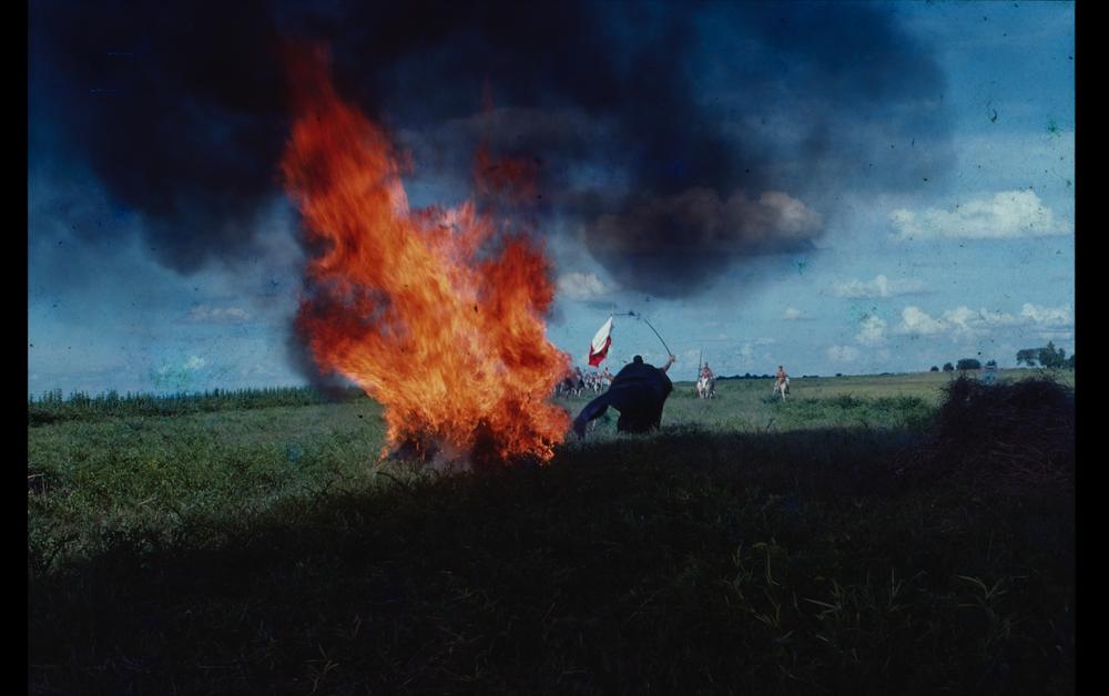 Still from  Bolívar, sinfonía tropikal,  Diego Rísquez, 1981