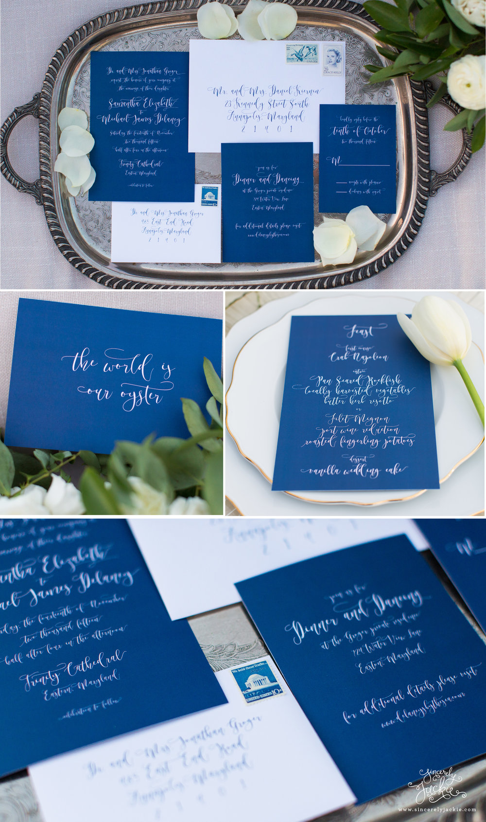 HEIRLOOM HIGHLIGHT: SAILBOAT INSPIRED INDIGO BLUE CALLIGRAPHY ...