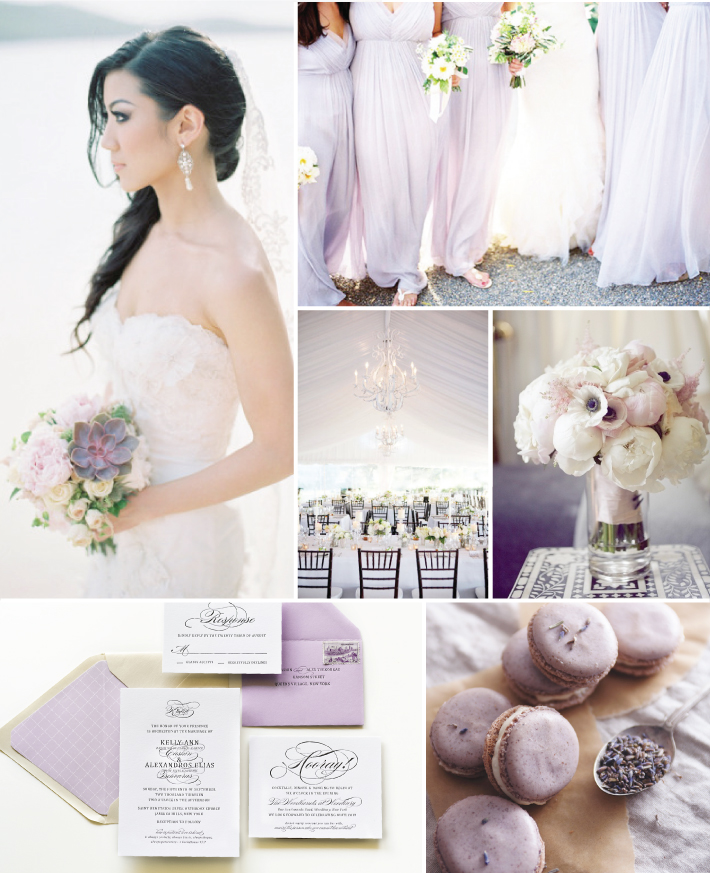 Purple, Black, and White Wedding Inspiration — Sincerely Jackie Long ...