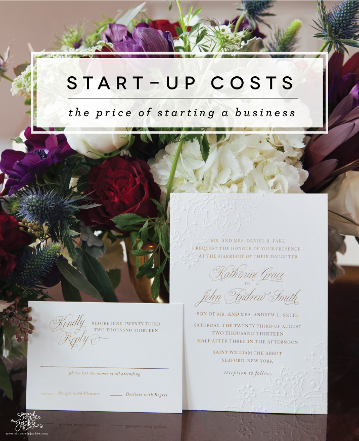 Paper Cuts: Start Up Costs — Sincerely Jackie Long Island Wedding ...