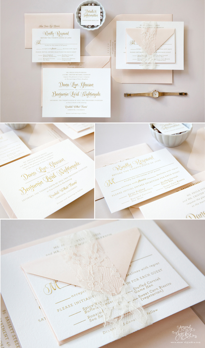 Heirloom Highlight: Dana and Ben\'s Gold and Pink Engraved Ballet ...