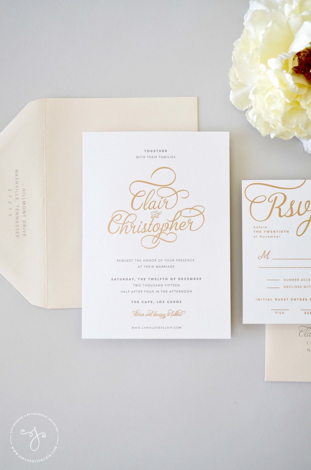 INVITATIONS — Sincerely Jackie Long Island Wedding Invitations