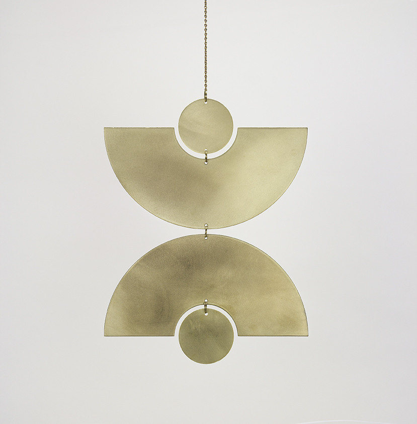 Modern Brass Wall Hanging
