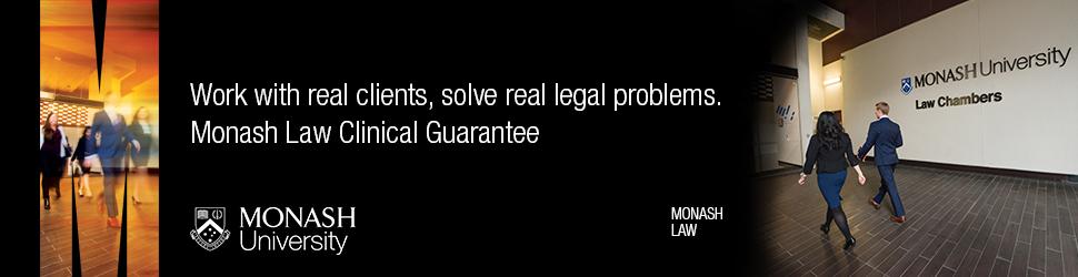 Monash Law Clinical Guarantee