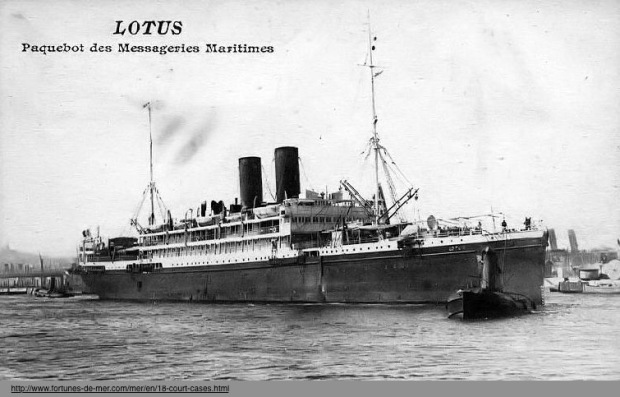 "ABOVE: The collision between the S.S. Lotus and the S.S. Bozkurt was a ""litmus test"" for Turkey to assert its newly established sovereignty on the world stage."