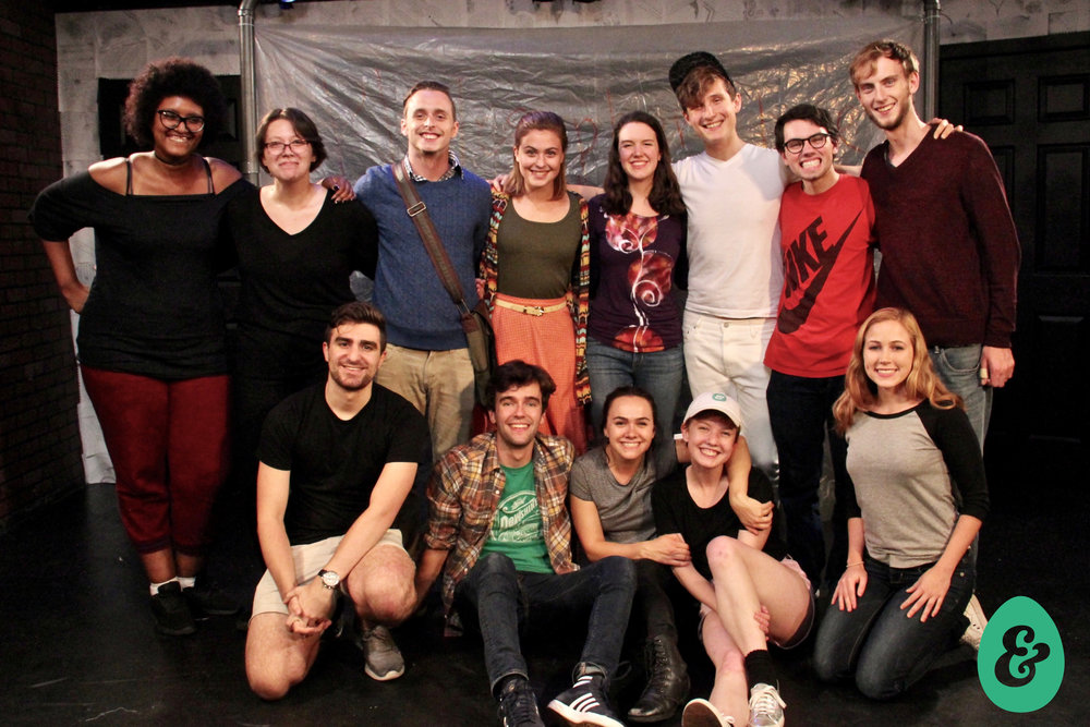 Cast and Production Team of MORNING  Behind (from L): Jessica Crawford, Yve Carruthers, Julián Garnik, Sam Phillips, Jesse O'Brien, Pascal Portney, Liam Lonegan, Greg Folsom  Front (from L): James Scarola, Alex Griffin, Bryn Dolan, Catherine Giddings, and Liana Costable