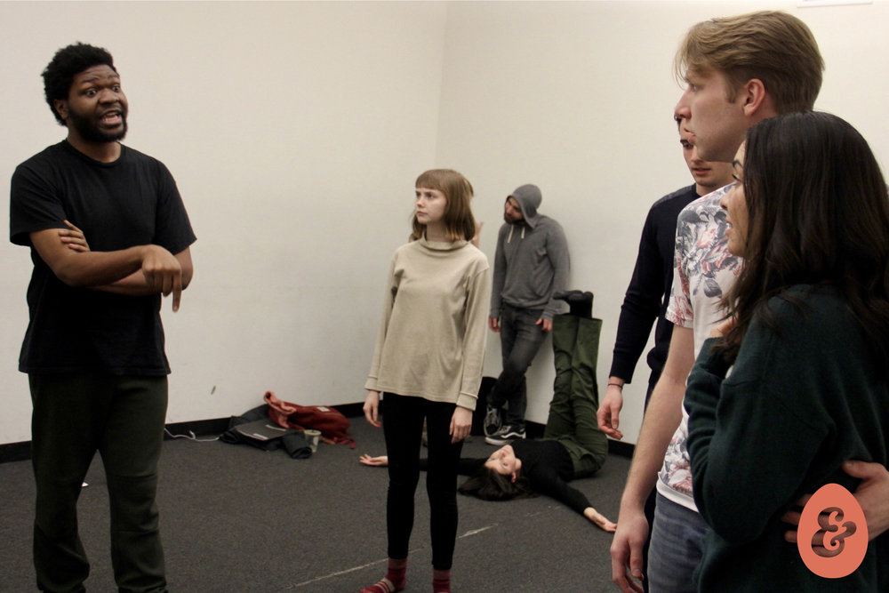 Kentrell Loftin, Calley Luman, Alex Settineri and Kiarra Goldberg in rehearsal. Photo by Christopher Michael Milligan.