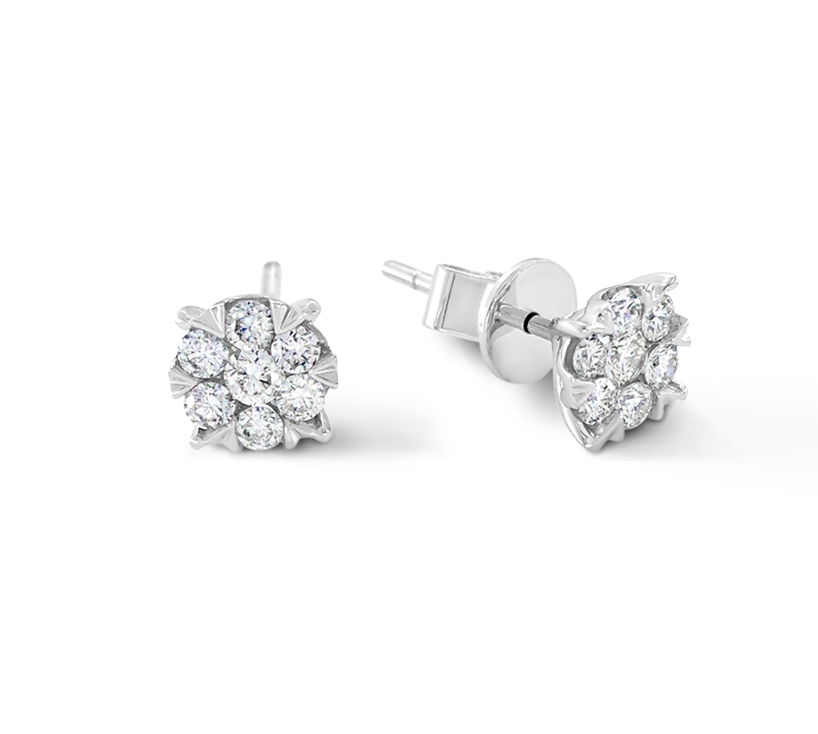 Diamond tulip earrings - $500