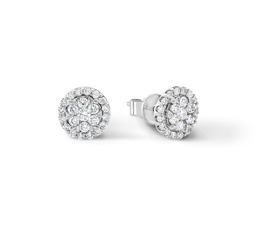 Diamond cluster earrings - $649