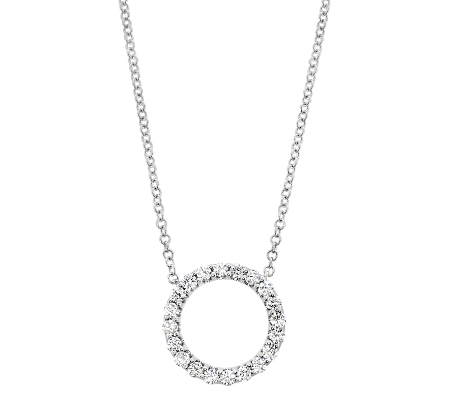 Diamond circle necklace - $899