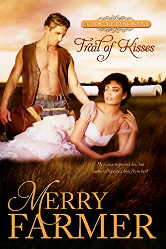 Trail of Kisses (Book 1) - Someone is trying to kill Lynne Tremaine. After her father sentences two members of The Briscoe Boys gang to death, Judge Tremaine feels he has no choice but to send Lynne to Denver City along the Oregon Trail to live with her Uncle George…against her will. For Lynne, the only thing worse than being sent away to the wild west is making the journey with the handsome, arrogant, wicked man her uncle has hired to escort her. Especially when the anger she feels toward him begins to turn to something hotter.Cade Lawson is determined to prove himself to his employer, George Tremaine, after letting him down months earlier. But what he thought would be his second chance may, in fact, be a harsh punishment for his past mistakes. Lynne is headstrong, fiery, and determined to show him she is fearless. She is also beautiful and tempting, and when Cade sees just how afraid she really is underneath her brave act, he may be in danger of losing his heart to her forever. When her would-be killer attacks, it's all he can do to keep Lynne safe.He swore to protect her, but who will protect him from her?PLEASE BE ADVISED - Steam Level: Hot