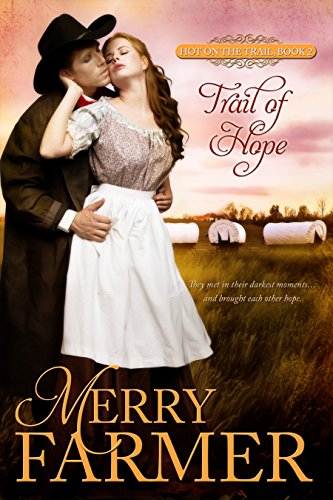 Trail of Hope (Book 2) - Callie Lewis is alone on the Oregon Trail. After her brother's death, she has been left to fend for herself on a journey she never wanted to take. Her only hope for safety and a life at the end of the road is to become a trail bride and wed grieving widower John Rye. But John is harboring secrets that could end their hasty marriage before it has a chance to begin.When a vicious tornado wakes John from the stupor the death of his wife left him in, he is ready to embrace Callie and the new life they could have together. But John is not the only one with designs on his new wife. Miles away from civilization, in a wagon train bristling with secrets and suspicion, John must catch a thief, fend off his rival, and reclaim his life to build the future Callie deserves.In their darkest moments will they bring each other hope?PLEASE BE ADVISED - Steam Level: Hot
