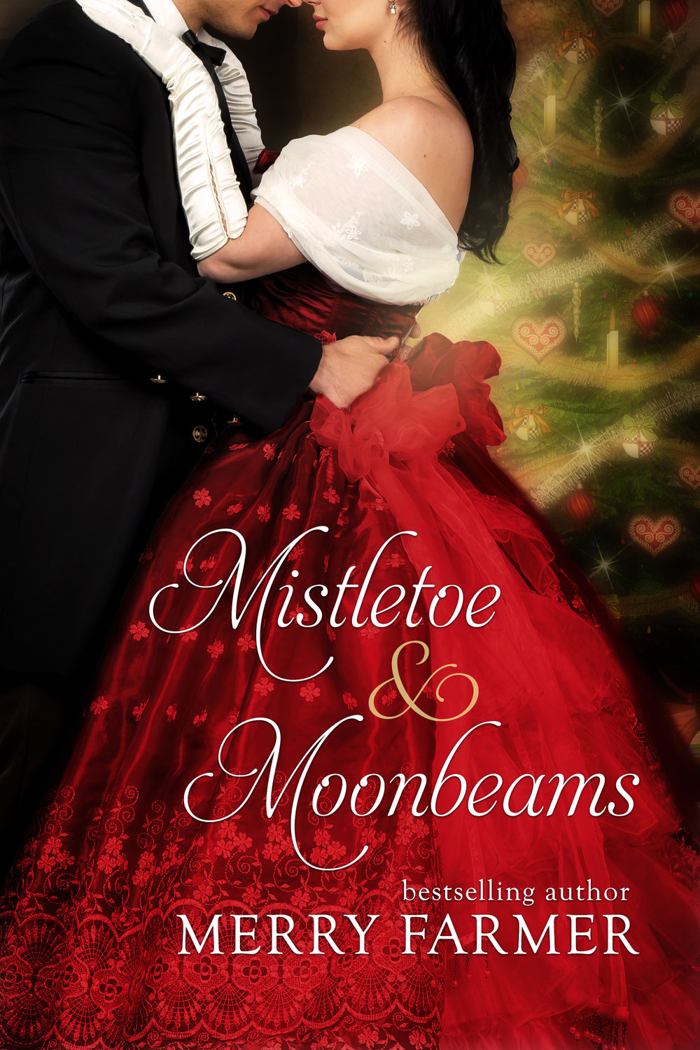 "Mistletoe & Moonbeams - Available for the first time on its own…Miranda Clarke is a respectable, proper woman. So when she inherits The Holey Bucket Saloon in Mistletoe, Montana from her Uncle Buford, she is livid. She feels she has no other choice than to travel to Mistletoe and keep the place open, since that's what her uncle wanted, but it is certainly not the life she wants to lead.Randall Sinclair is a traveling brush salesman with dreams of bigger things. That is, his father has dreams of bigger things for him. And drives him relentlessly to achieve them. Randall himself would be more than happy to live a quiet life in a quiet town with a loving wife. Especially when he finds himself faced with beautiful and inimitable saloonkeeper, Miranda.Their acquaintance seems doomed to be a brief one, two ships passing in the night…until a blizzard traps them alone in the saloon together. With nothing to do but clean up the saloon and sort through their immediate and intense attraction, the final days approaching Christmas end up being anything but cold, but with so many expectations heaped on top of them, can ""Randy"" and ""Randi"" find a way to be together after the storm?PLEASE BE ADVISED – Steam Level: HotThis novella was originally part of a box set—Wild Western Women in Mistletoe, Montana. Look for other books in this series including:Mail-Order Merry, by Kirsten OsbourneMistletoe Mistake, by Caroline ClemmonsMistletoe Scandal, by Sylvia McDaniel"