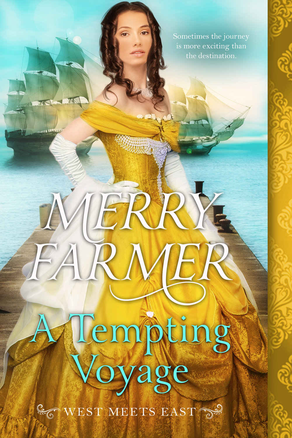 A Tempting Voyage (Book 6) - Captain Albert Tennant has lived most of his life on the sea, in spite of his noble status. It is his home and his passion. But the adventure of transporting several of the young women from Haskell, Wyoming to their new lives in England has highlighted how dull his own life has become. Until Domenica Ortega steps aboard his ship.Domenica is more than ready to give up her life as a soiled dove for the promise of a fresh start that London provides. But beneath her brash, devil-may-care attitude lurks a secret fear that she hides from the world. It shakes her to her core that handsome Captain Tennant can see right through her mask to the heart she tries to keep hidden. And unlike any other man, Albert makes her feel safe.When a member of Albert's crew goes missing halfway across the ocean, Domenica and Albert must discover what happened with very little evidence to go on. They have until the ship reaches London to uncover the perpetrator and bring them to justice. But mysteries are difficult to solve when temptation abounds, and the biggest question of all may be how Albert will be able to let Domenica go at the end of their voyage.PLEASE BE ADVISED: Steam level – HOT