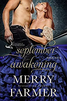 September Awakening (Book Four) - Lady Lavinia Prior has lived her whole life under her mother's thumb. Heaven forbid she should form an opinion of her own or want something more than the rigid role her mother has planned for her as the perfect wife of an important man. But since her mother has never deemed any man to be good enough, Lavinia is at risk of becoming a spinster by default.Until one cringe-worthy night during a late-summer house party at Winterberry Park….Dr. Armand Pearson never expected to inherit the title of Viscount Helm and all that goes with it upon his cousin's death. With his medical career decimated by the duties of his title, the responsibility of an estate he doesn't know how to run on his shoulders, and a position in the House of Lords that his friends urge him to attend to, the last thing he has time for is a wife.But fate, and Lady Ursula Prior, have other plans….What starts out as the most awkward, uncomfortable marriage in all of England turns into something else entirely when Lavinia and Armand discover that they have more in common than they ever could have imagined. And when they make a deal to combine forces in order to defeat an old foe, both awaken to a whole new world of possibility and love.PLEASE BE ADVISED: Steam Level – Very Hot