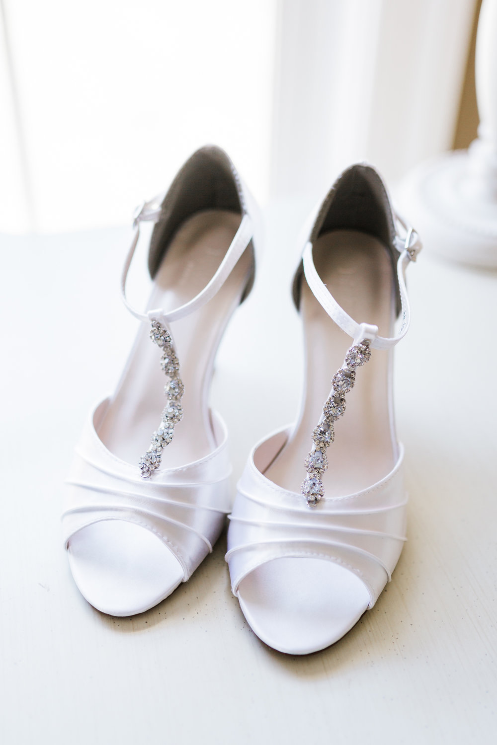 Classic bridal shoes Maryland Wedding