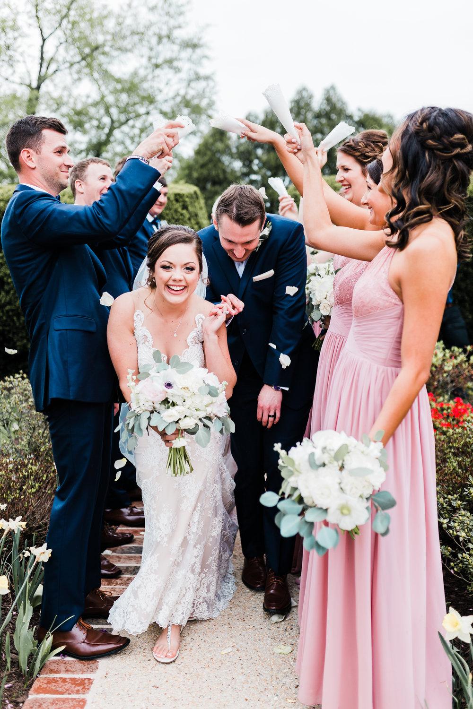 flower toss at carroll county md wedding - photographer