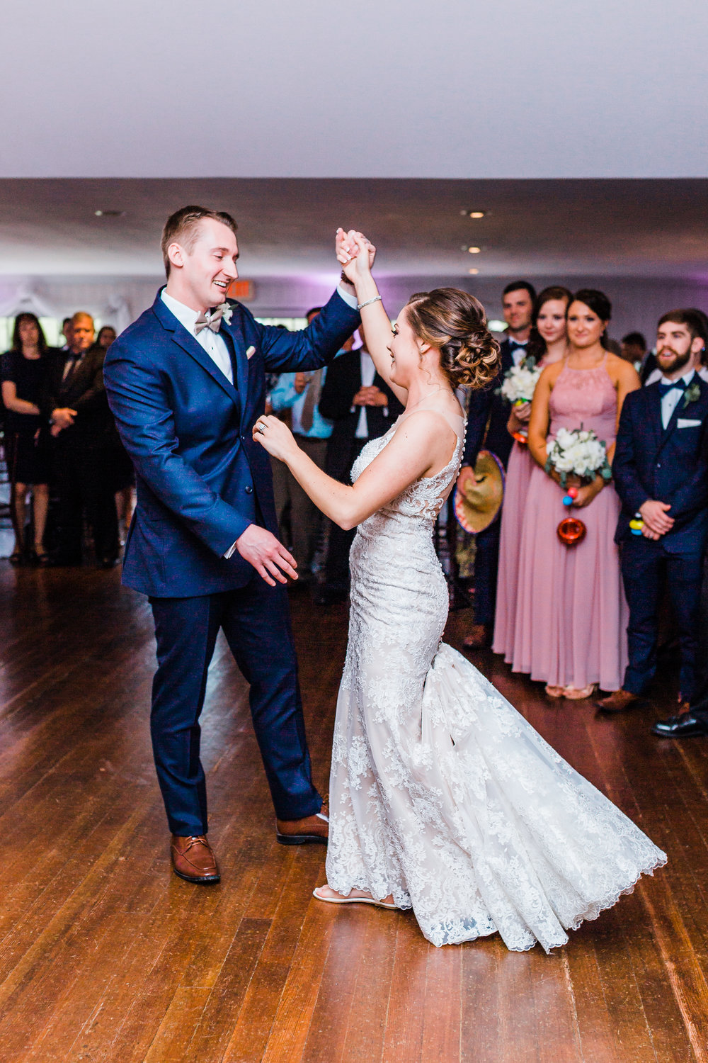 bride and groom share their first dance at Antrim 1844 in carroll county md - maryland photographer