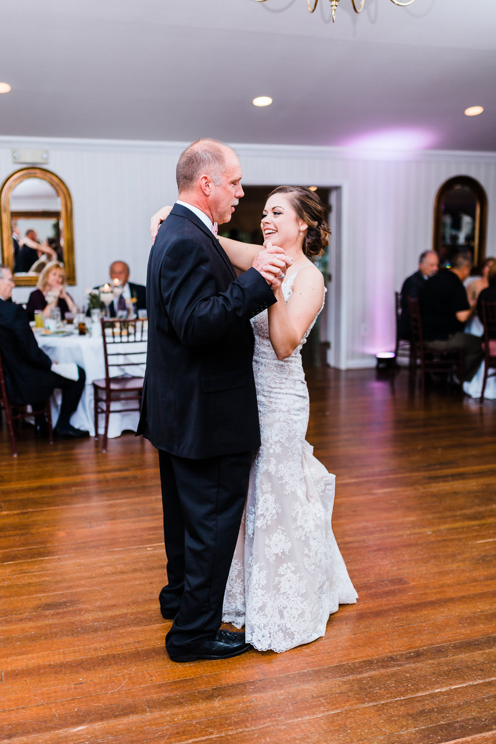 father of the bride and bride first dance md wedding