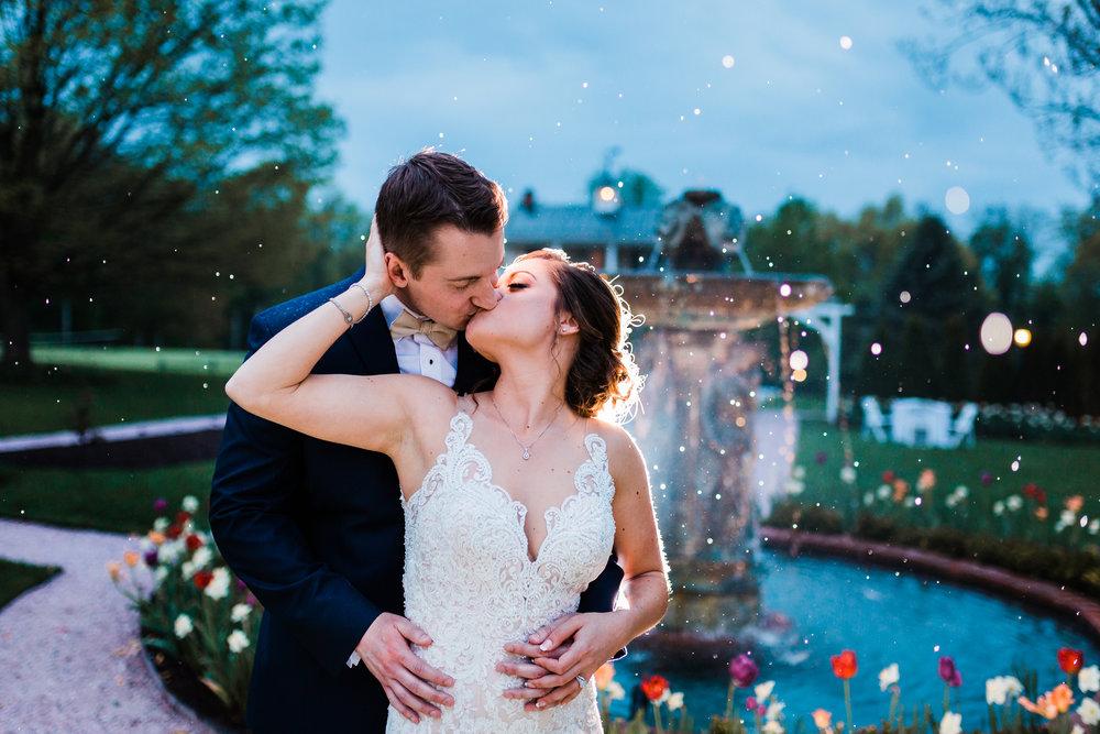 romantic rainy wedding night maryland wedding photographer
