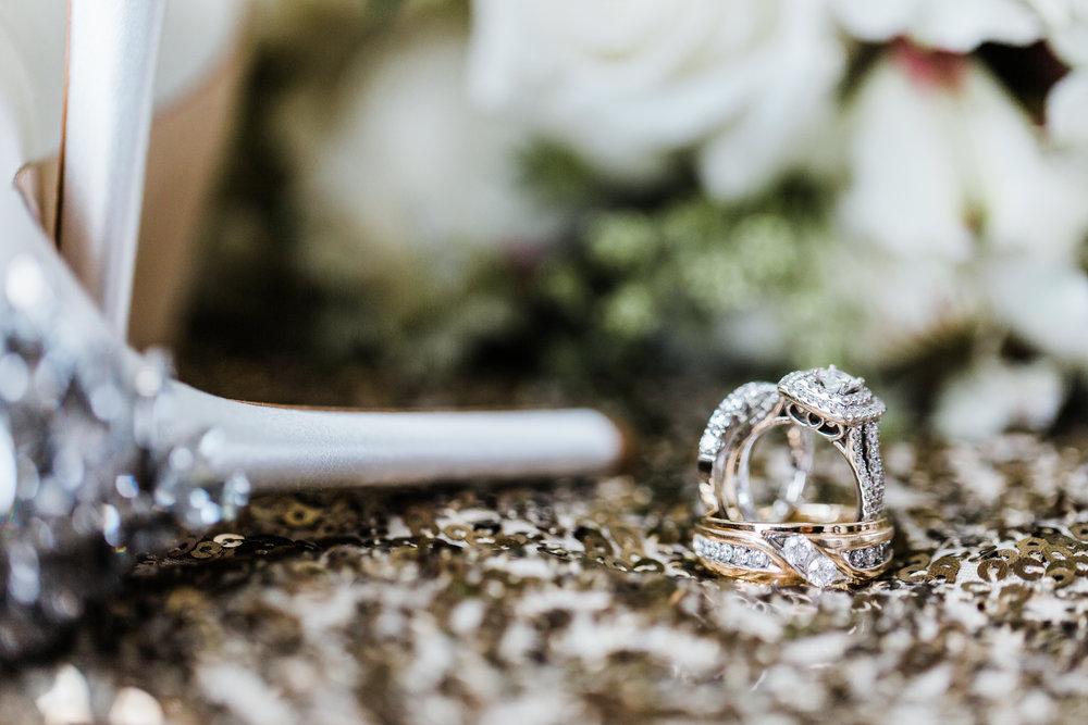 Bridal details, wedding rings, baltimore md