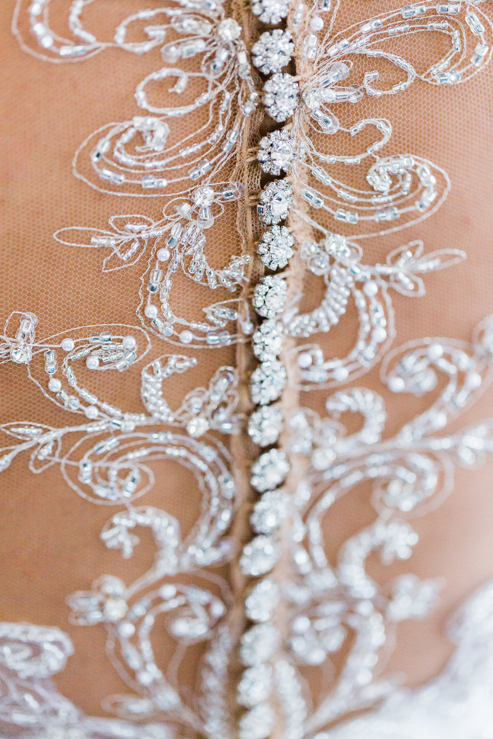wedding dress lace and button details baltimore wedding photographer