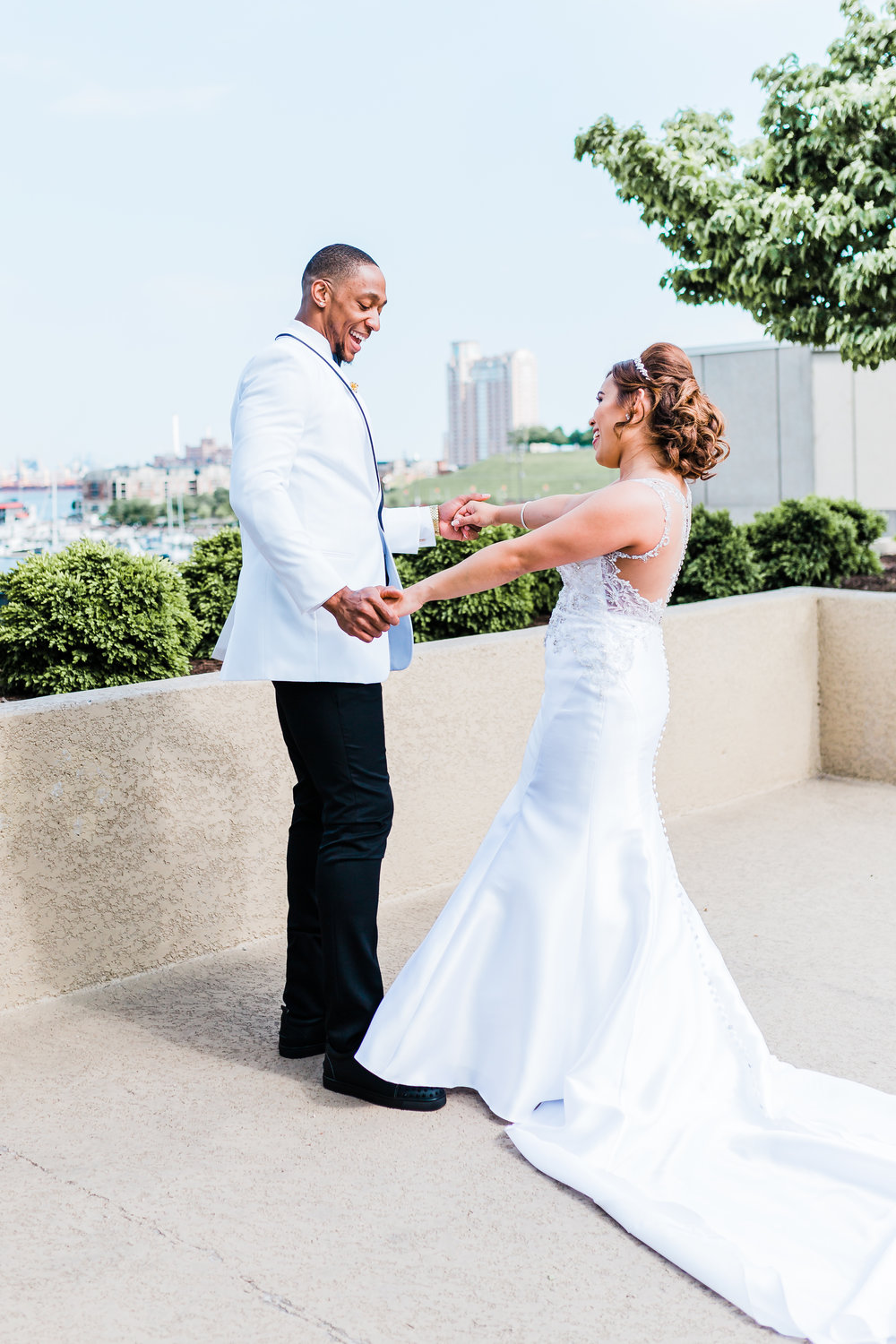 bride and groom baltimore maryland photographer and videographer