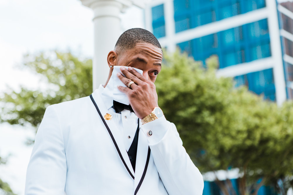 emotional groom in baltimore maryland - md wedding photo and video