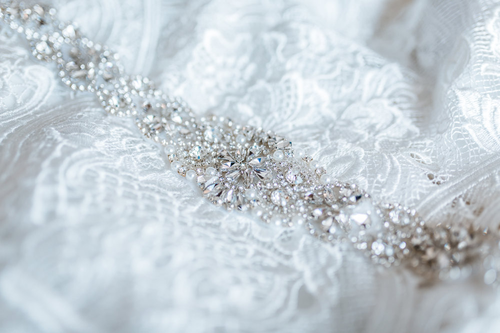bridal gown details - maryland wedding photographer - photo and video