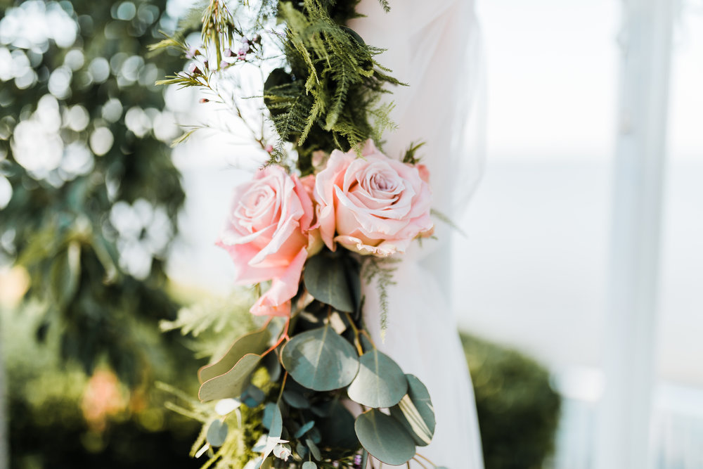 flower arrangements for celebrations at the bay wedding - pasadena, md - maryland wedding photographer - md florist