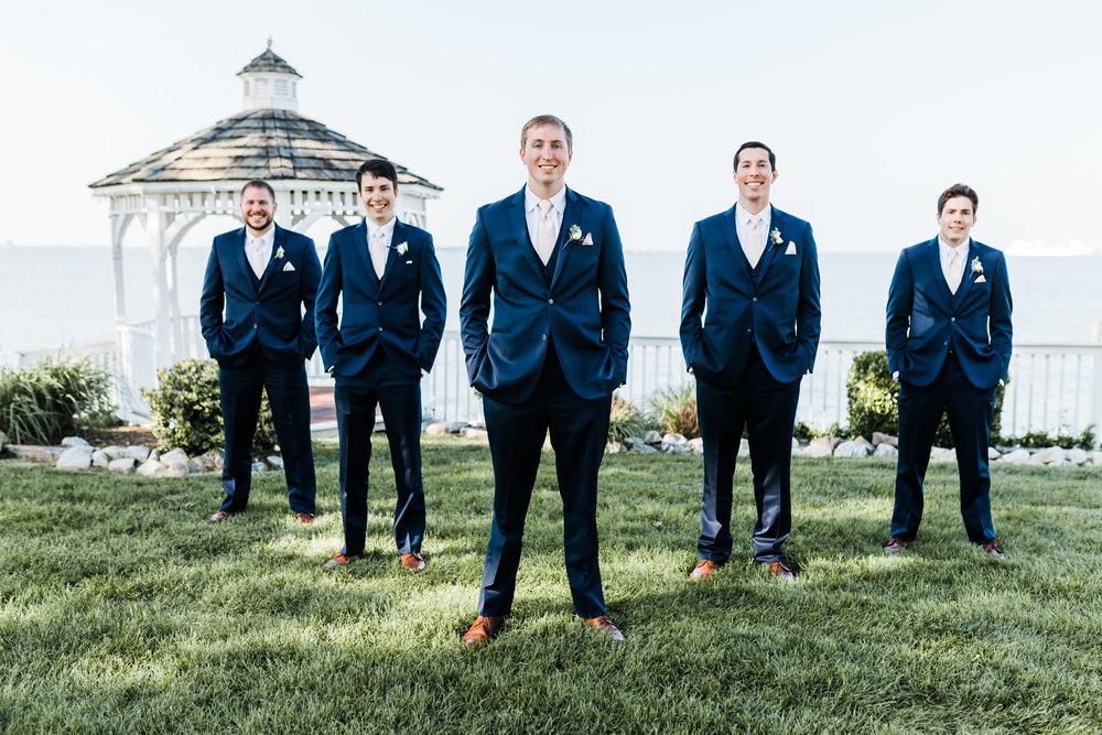 groom squad - maryland wedding photographer - celebrations at the bay