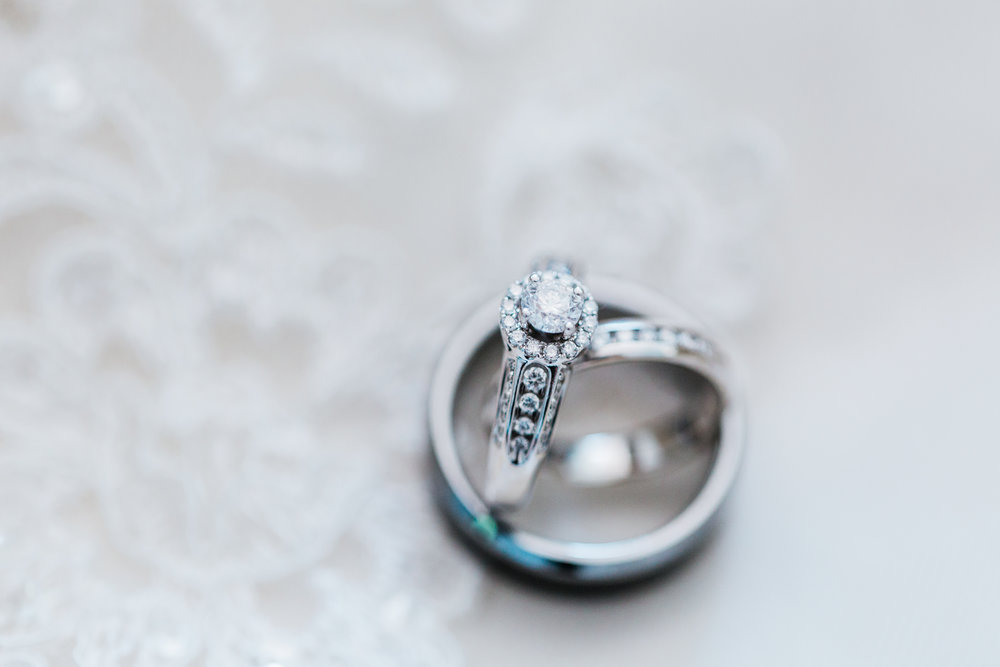macro shot of wedding rings - pasadena maryland wedding - disney inspired wedding - best md wedding photographer
