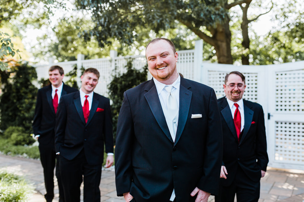 maryland wedding photography and cinematography - disney inspired groom - black red and white wedding ideas