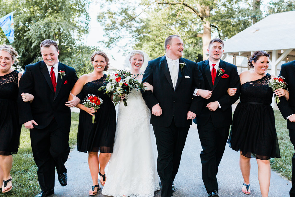 bridal party photos at bayside wedding in pasadena maryland - md wedding photographer