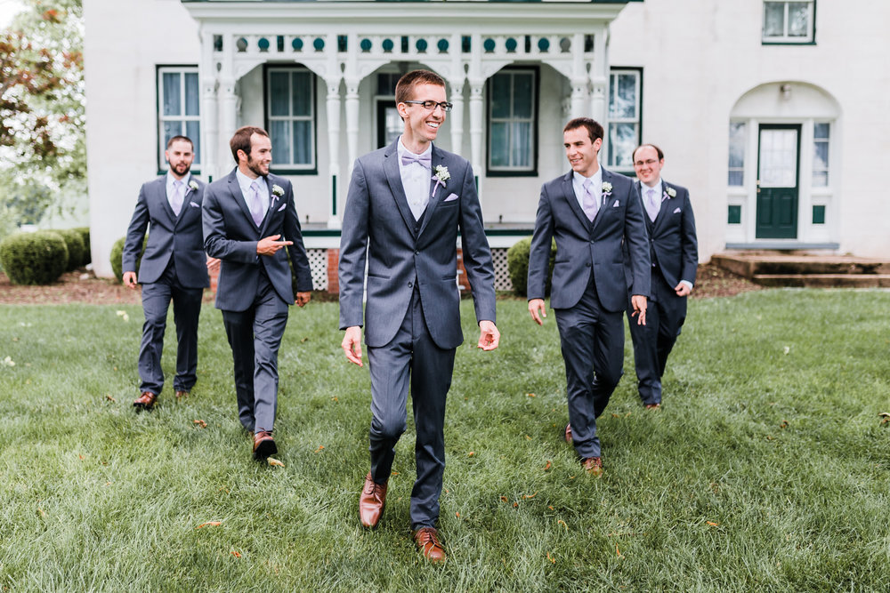 groom with his groomsmen - md wedding photographer
