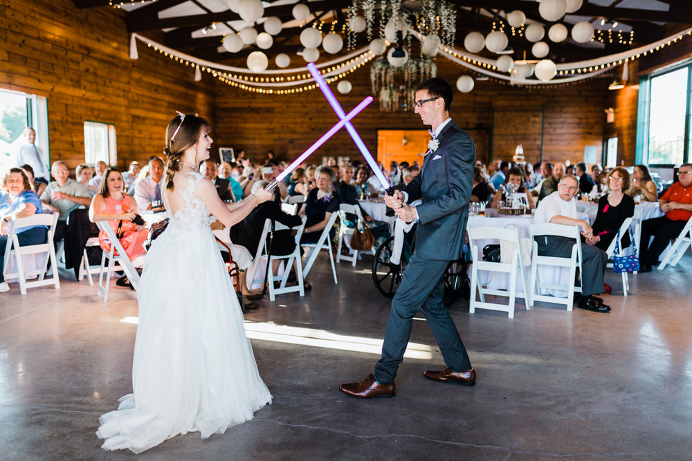 off beat first dances - unique weddings - light saber wedding - md wedding photographer