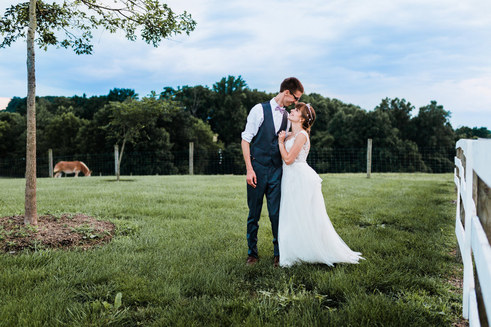 wedding with stormy skies - maryland wedding photographer