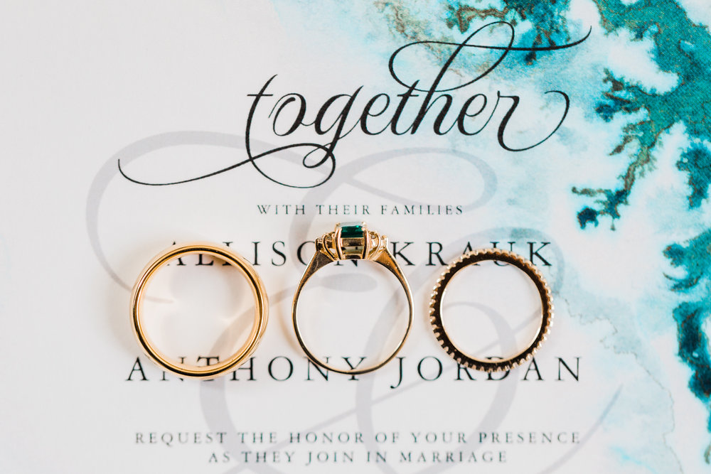 agate wedding invitations - bridal details - styled shoots in maryland