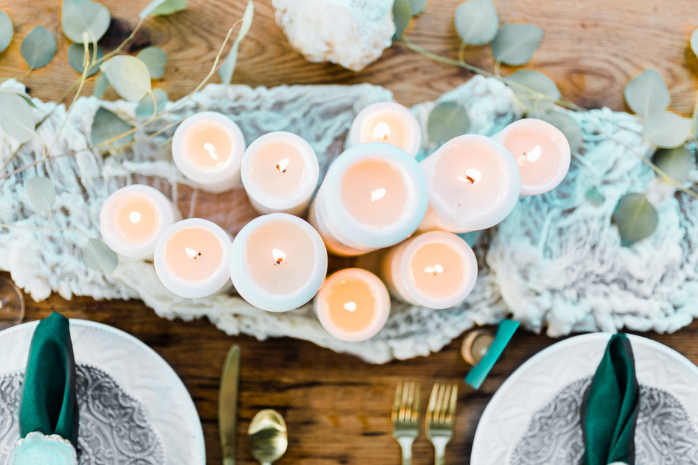 wedding tables ideas - romantic candle centerpieces - boho weddings in maryland - top md wedding photographer and cinematographer