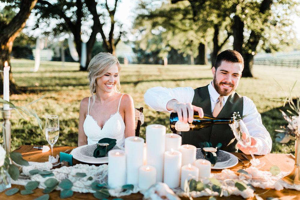 wedding champagne - sweetheart table ideas - diy wedding - romantic boho wedding