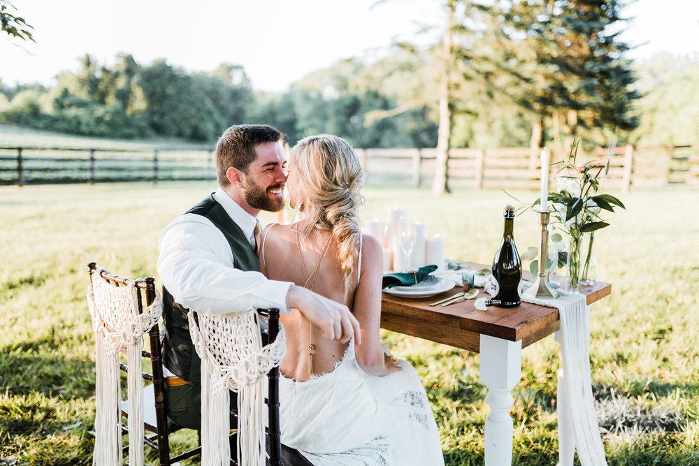 macrame chair hangers - bohemian wedding inspo - best maryland wedding photographer - romantic bride hairstyles - Pins N Brushes