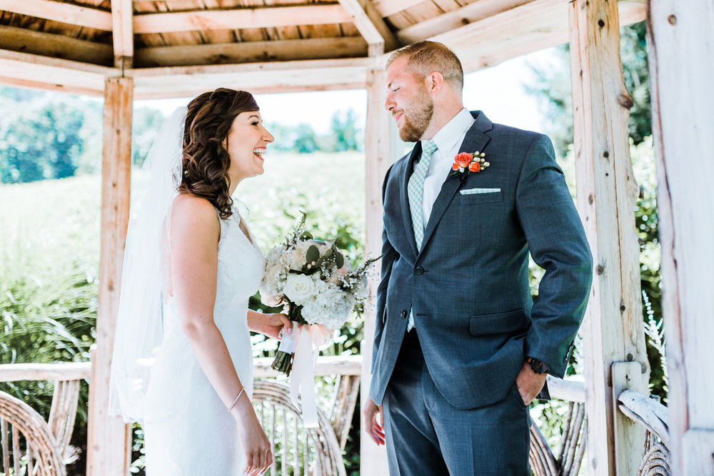groom sees his bride for the first time - top md wedding photographer