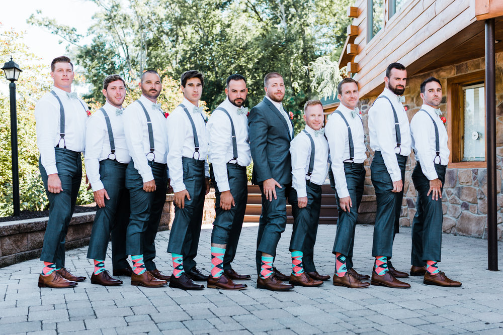 crazy matching wedding socks for groom and groomsmen - best overall MD wedding photographer and cinematographer