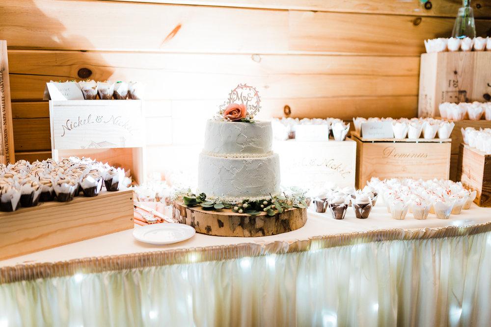 beautiful wedding cake and cupcakes - PA weddings - MD weddings