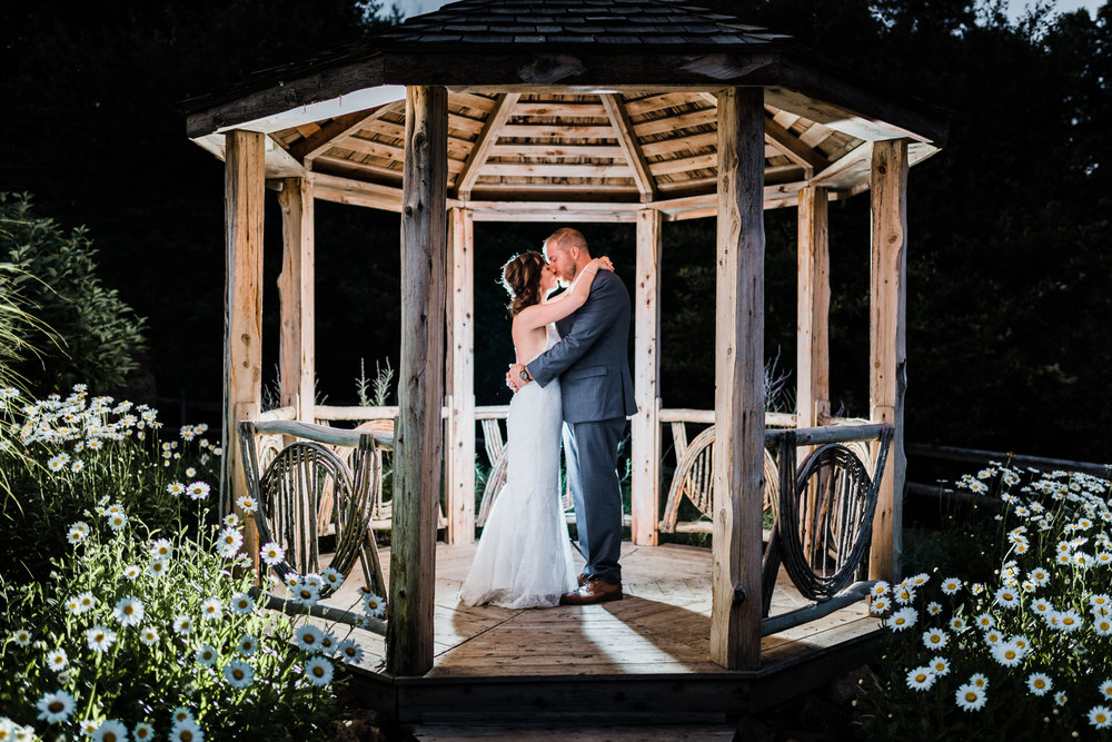 night portraits - gazebo at Boulder lodge - most creative and professional wedding photographer in Maryland - photo and video combo - husband and wife team