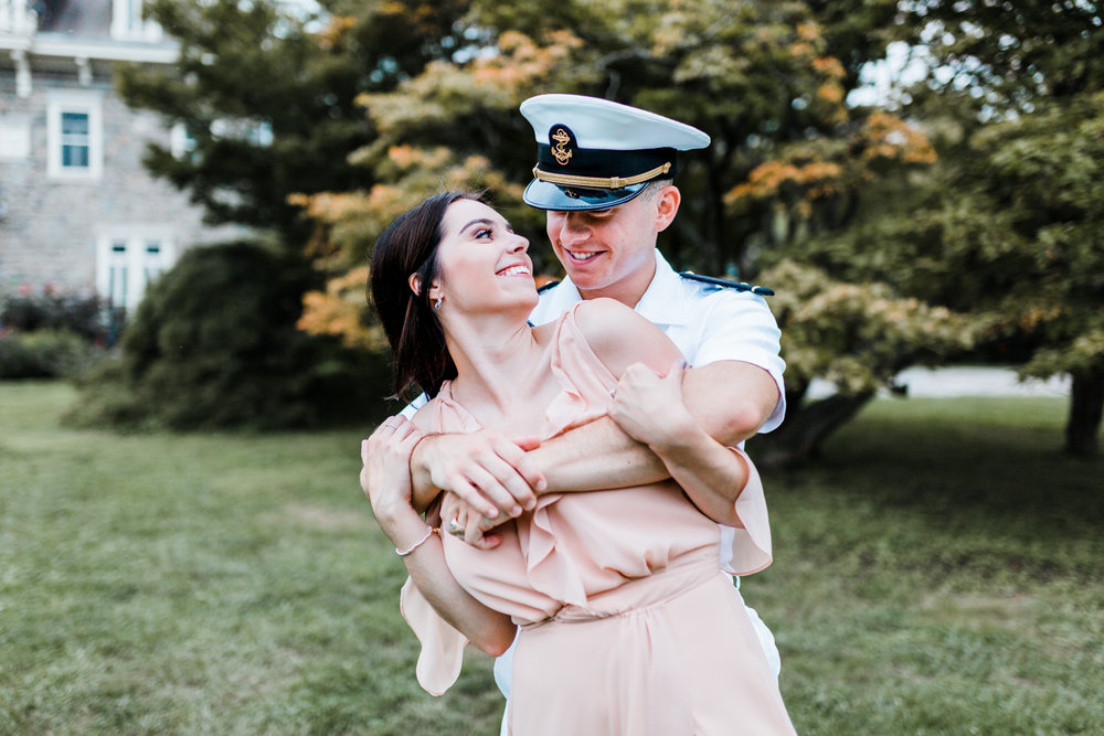 military engagement - engagement session outfit ideas and inspiration