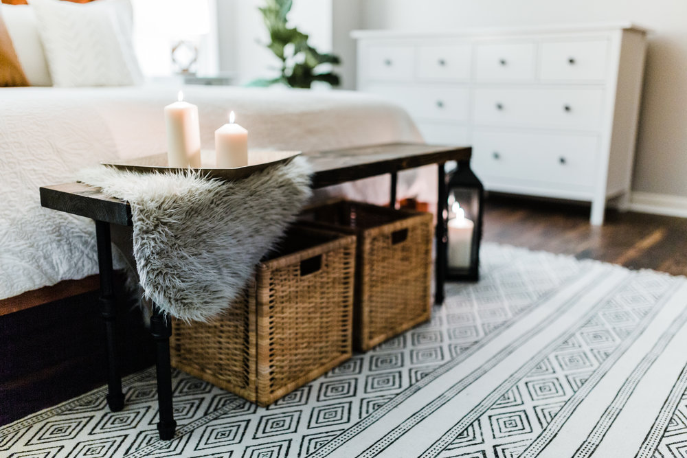 Bohemian bedroom inspo - boho home inspiration - black and white boho