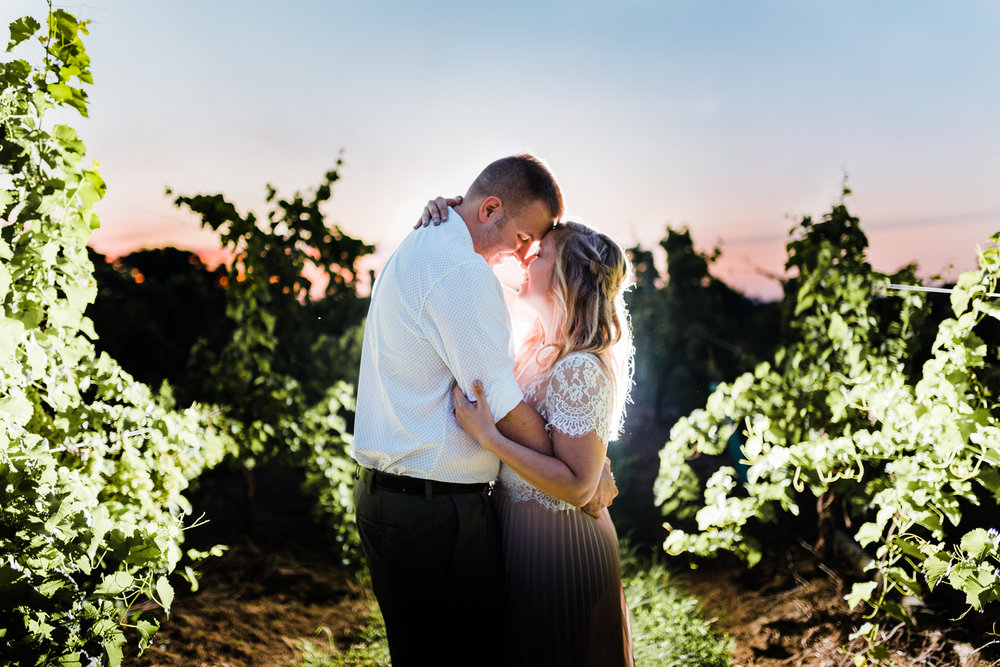 romantic sunset engagement session - top maryland wedding photographer and cinematographer